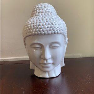Large White Porcelain Decorative Buddha Head